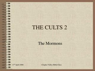 THE CULTS 2