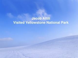 Jacob Attili Visited Yellowstone National Park