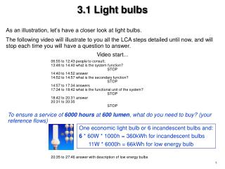 3.1 Light bulbs