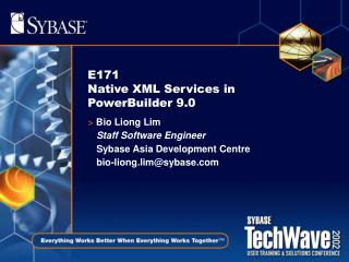 E171  Native XML Services in PowerBuilder 9.0