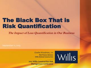The Black Box  T hat is Risk  Quantification