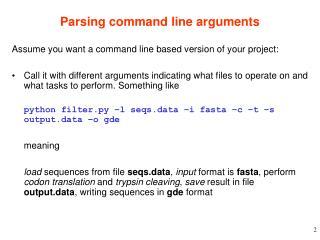 Parsing command line arguments