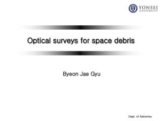 Optical surveys for space debris