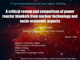 Satoshi Konishi  Institute for Advanced Energy, Kyoto University May.25, 2005