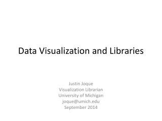 Data Visualization and Libraries