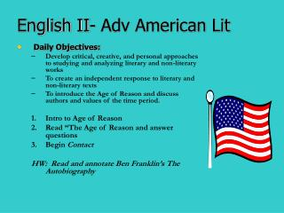 English II- Adv American Lit