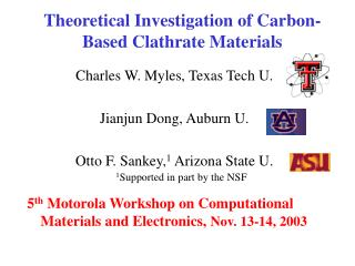 Theoretical Investigation of Carbon-Based Clathrate Materials