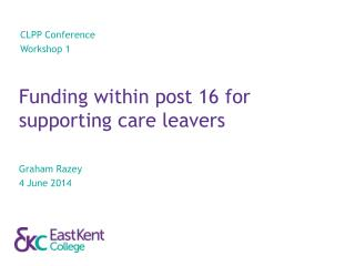 Funding within post 16 for supporting care leavers