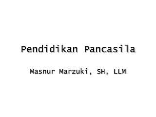Pendidikan Pancasila