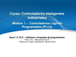 Curso: Controladores inteligentes industriales