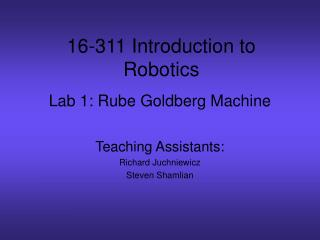 Lab 1: Rube Goldberg Machine