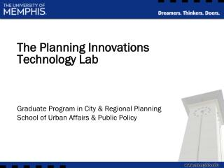 The Planning Innovations Technology Lab