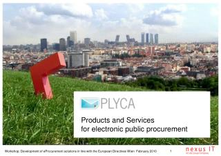 Products and Services  for electronic public procurement