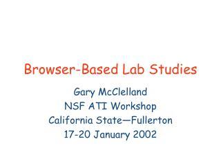 Browser-Based Lab Studies