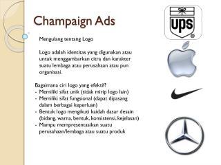 Champaign Ads