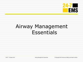 Airway Management Essentials