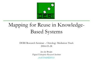 Mapping for Reuse in Knowledge-Based Systems