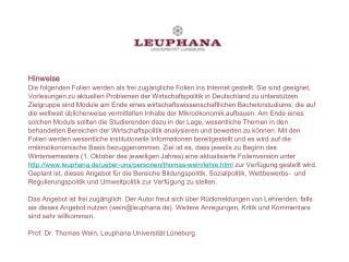 Sozialpolitik - Alterssicherung WS 14/15 Prof. Dr. Thomas Wein)