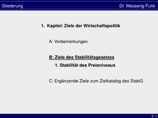 Gliederung Dr. Messerig-Funk