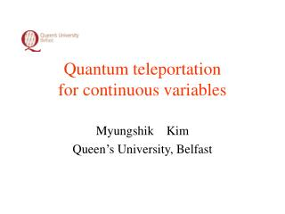 Quantum teleportation  for continuous variables