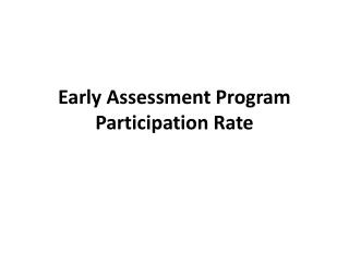Early Assessment Program Participation Rate