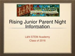 Rising Junior Parent Night Information