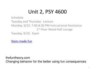 Unit 2, PSY 4600