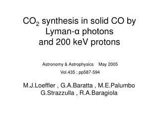 CO 2  synthesis in solid CO by  Lyman-α photons  and 200 keV protons