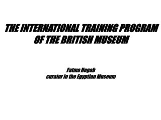 Fatma Hegab curator in the Egyptian Museum