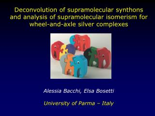 Deconvolution of supramolecular synthons and analysis of supramolecular isomerism for wheel-and-axle silver complexes