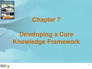 Chapter 7 Developing a Core Knowledge Framework