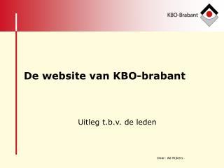 De website van KBO-brabant