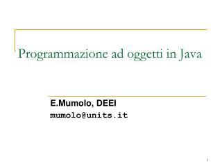 Programmazione ad oggetti in Java