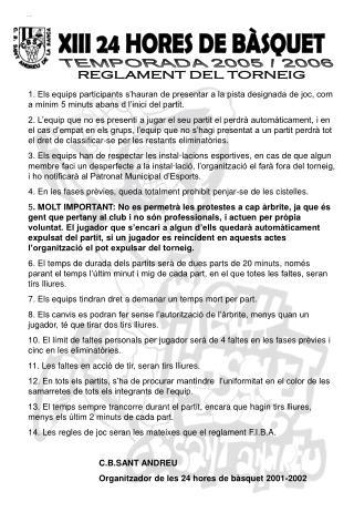 XIII 24 HORES DE BÀSQUET
