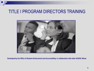TITLE I PROGRAM DIRECTORS TRAINING