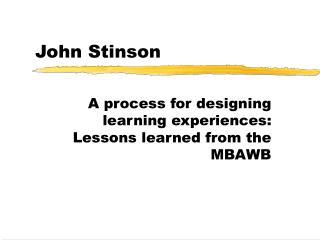 John Stinson