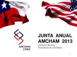 JUNTA  ANUAL  AMCHAM  2013 Kathleen Barclay  Presidenta de AmCham