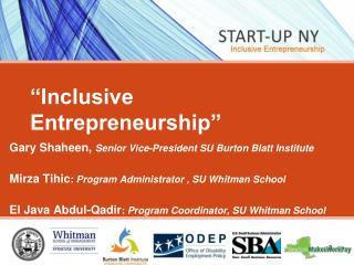Inclusive Entrepreneurship