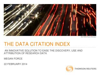 THE DATA CITATION INDEX