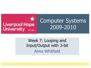 Computer Systems 2009-2010