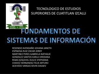 TECNOLOGICO DE ESTUDIOS SUPERIORES DE CUATITLAN IZCALLI