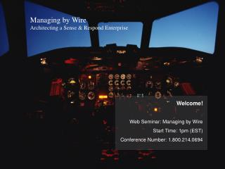 Managing by Wire Architecting a Sense  Respond Enterprise