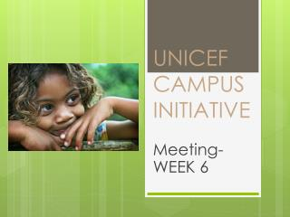 UNICEF CAMPUS INITIATIVE
