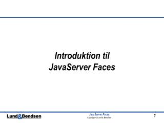 Introduktion til  JavaServer Faces