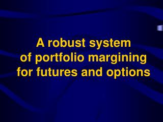 A robust  system  of portfolio margining for futures and options