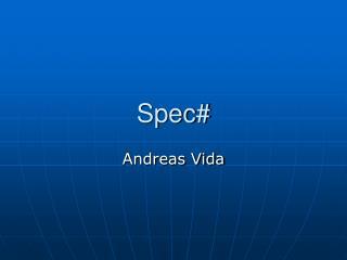 Spec#