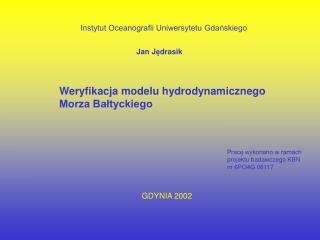 Instytut Oceanografii Uniwersytetu Gdańskiego