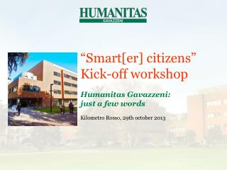 """""""Smart[er] citizens"""" Kick-off workshop"""