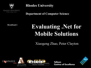 Evaluating .Net for Mobile Solutions