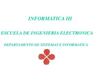 INFORMATICA III
